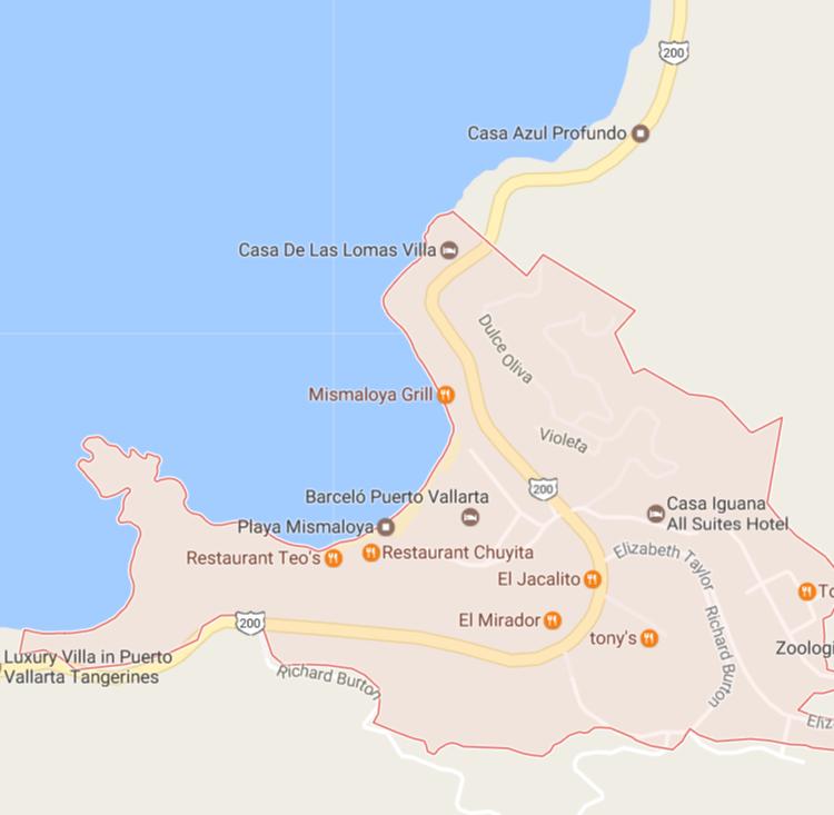 Mismaloya map